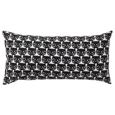 MATTRAM Cushion, white/black, 30x60 cm