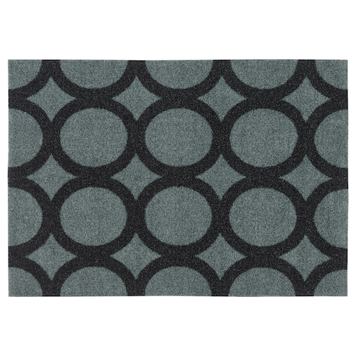 MEJLS door mat circle pattern grey/black 60 cm 40 cm 6 mm 0.24 m² 1110 g/m² 450 g/m² 4 mm