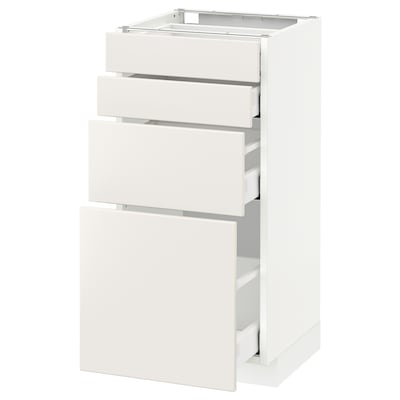METOD Base cab 4 frnts/4 drawers, white Maximera/Veddinge white, 40x41x80 cm