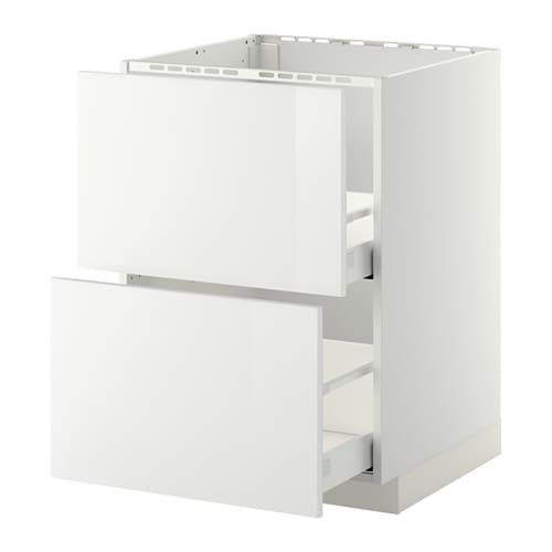 METOD Base cab f sink+2 fronts/2 drawers - Kungsbacka anthracite ...