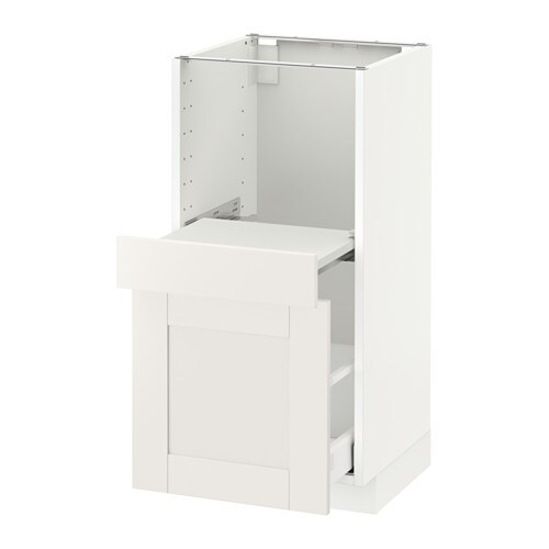 metod base cab w pull out shelf drawer s vedal white