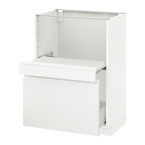 metod base cab w pull out shelf drawer f voxtorp white