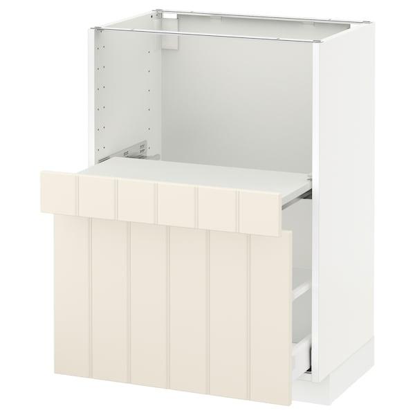 METOD base cab w pull-out shelf/drawer white Maximera/Hittarp off-white 60.0 cm 41 cm 42.8 cm 80.0 cm