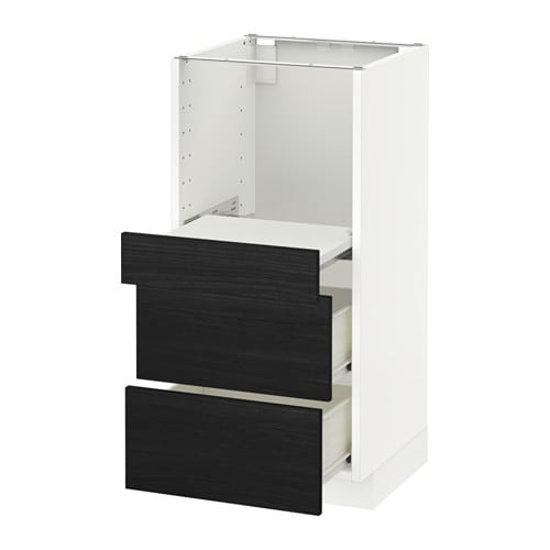 metod base cab w pull out shelf 2 drawers tingsryd wood
