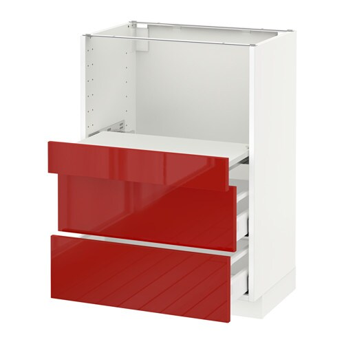 metod base cab w pull out shelf 2 drawers ringhult high