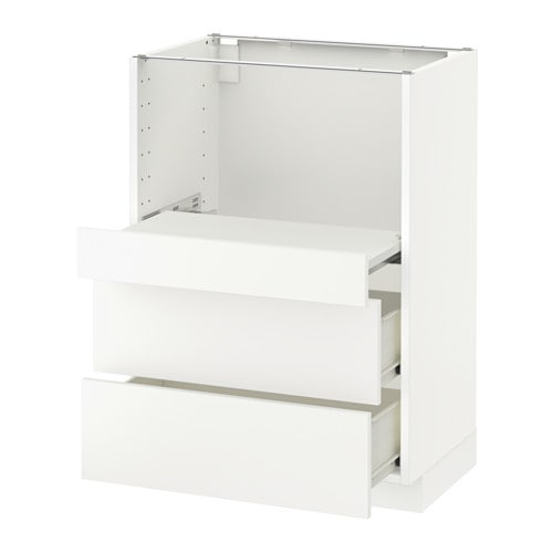 metod base cab w pull out shelf 2 drawers f h ggeby