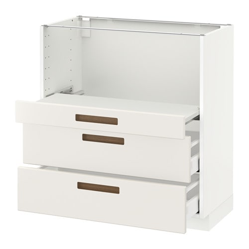 metod base cab w pull out shelf 2 drawers m rsta white