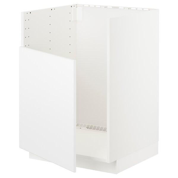 METOD Base cabinet f BREDSJÖN sink, white/Kungsbacka matt white, 60x60x80 cm