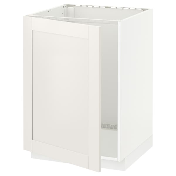 METOD Base cabinet for sink, white/Sävedal white, 60x60x80 cm