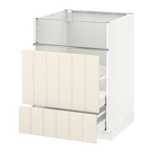 metod base cb f hob fish grill 2 drawers ma hittarp off white ikea. Black Bedroom Furniture Sets. Home Design Ideas