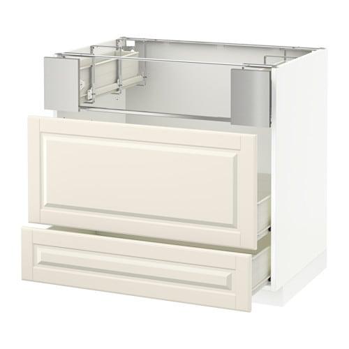 metod base cb f hob fish grill 2 drawers f bodbyn off white 90x60x80 cm ikea. Black Bedroom Furniture Sets. Home Design Ideas