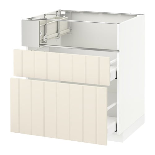 metod base cb f hob fish grill 2 drawers ma hittarp off white 75x60x80 cm ikea. Black Bedroom Furniture Sets. Home Design Ideas