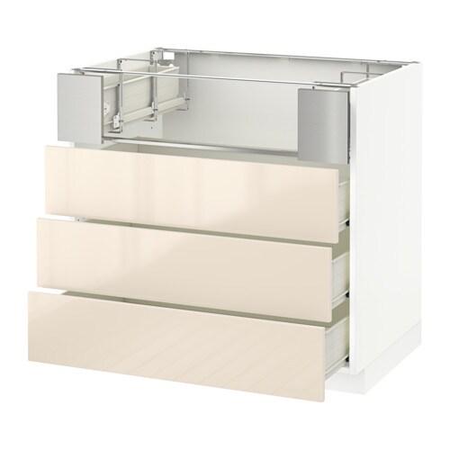 metod base cb f hob fish grill 3 drawers f ringhult high gloss yellow white 90x60x80 cm ikea. Black Bedroom Furniture Sets. Home Design Ideas