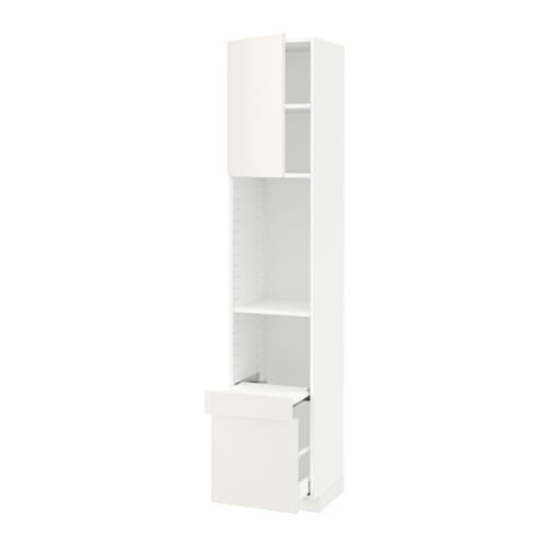 metod hi cab w pull out shelf drawer door veddinge white