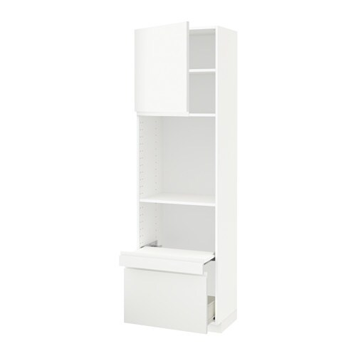 metod hi cab w pull out shelf drawer door voxtorp white