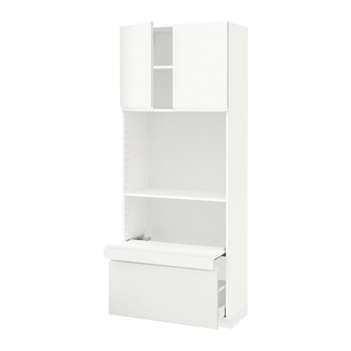cb w pull out shelf drawer 2 drs voxtorp white 80x41x200 cm ikea