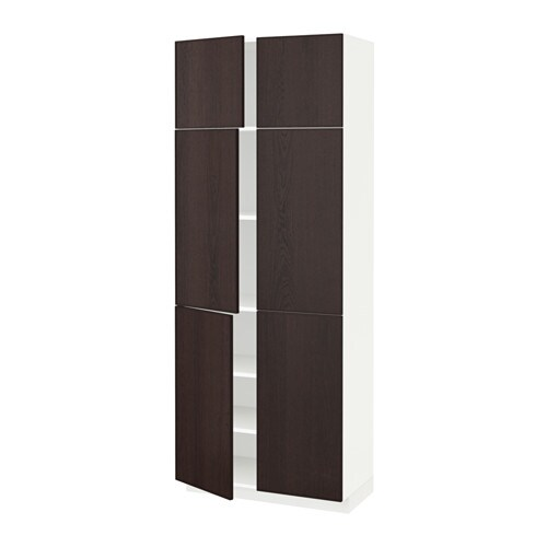 metod high cabinet with shelves 4 doors ekestad brown ikea. Black Bedroom Furniture Sets. Home Design Ideas