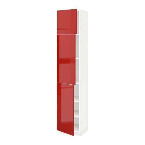 METOD High Cabinet With Shelves/3 Doors