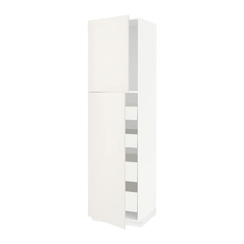 Metod High Cb W 2 Doorsshelves4 Drawers White Maximera Veddinge White