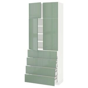 Front: Kallarp high-gloss light green.