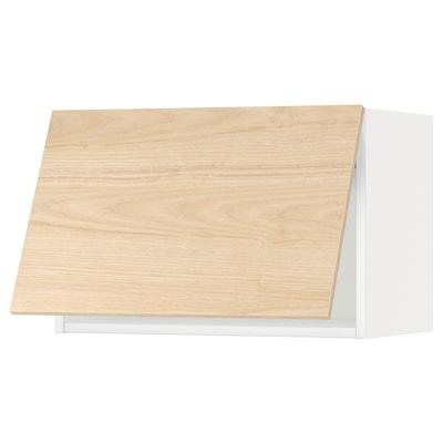 METOD Wall cabinet horizontal w push-open, white/Askersund light ash effect, 60x37x40 cm