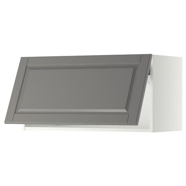 METOD Wall cabinet horizontal, white/Bodbyn grey, 80x37x40 cm