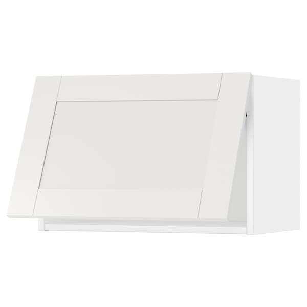 METOD Wall cabinet horizontal, white/Sävedal white, 60x37x40 cm