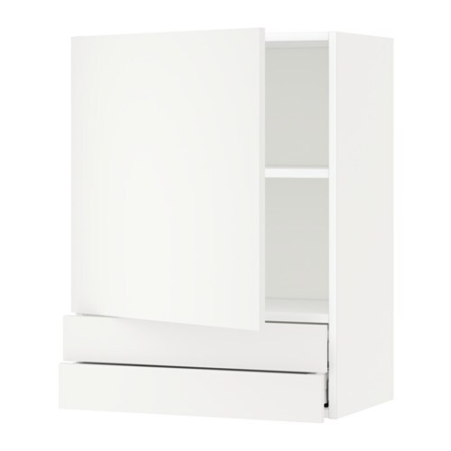 metod wall cabinet with door 2 drawers h ggeby white