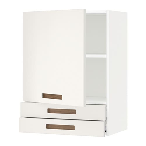 metod wall cabinet with door 2 drawers m rsta white