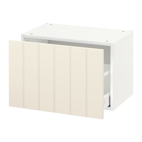 metod wall cabinet with drawer hittarp off white