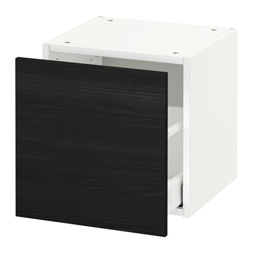 metod wall cabinet with drawer tingsryd wood effect