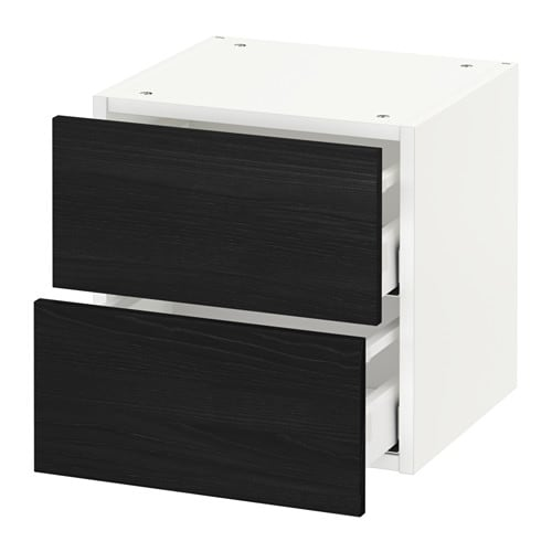 metod wall cabinet with 2 drawers tingsryd wood effect