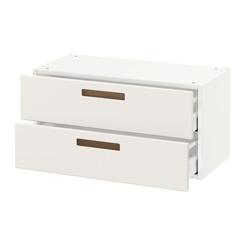 metod wall cabinet with 2 drawers m rsta white 80x37x40