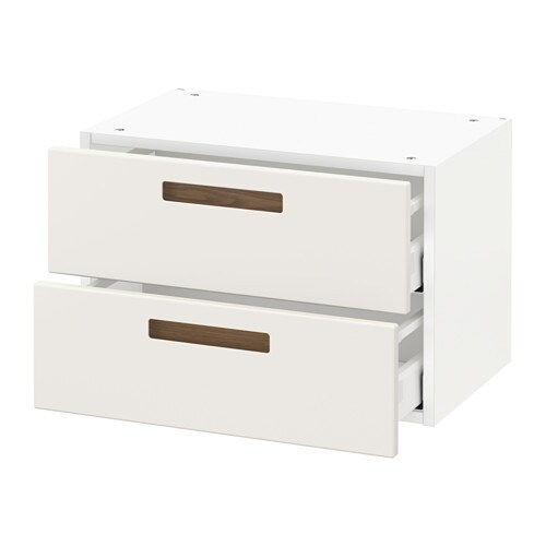 metod wall cabinet with 2 drawers m rsta white 60x37x40