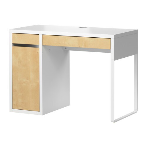 micke desk white birch effect ikea. Black Bedroom Furniture Sets. Home Design Ideas