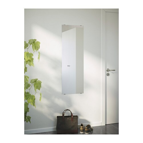 MINDE Mirror IKEA Can be hung horizontally or vertically.  Provided with safety film - reduces damage if glass is broken.