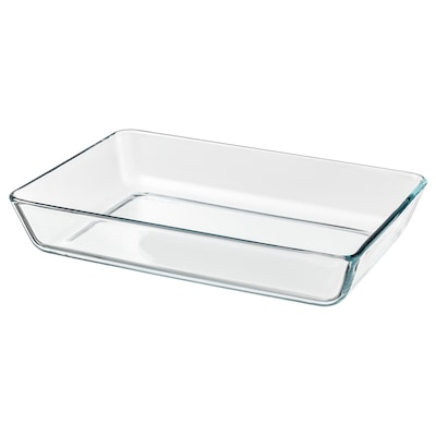 MIXTUR Oven/serving dish, clear glass, 35x25 cm