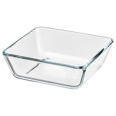 MIXTUR Oven/serving dish, clear glass, 15x15 cm