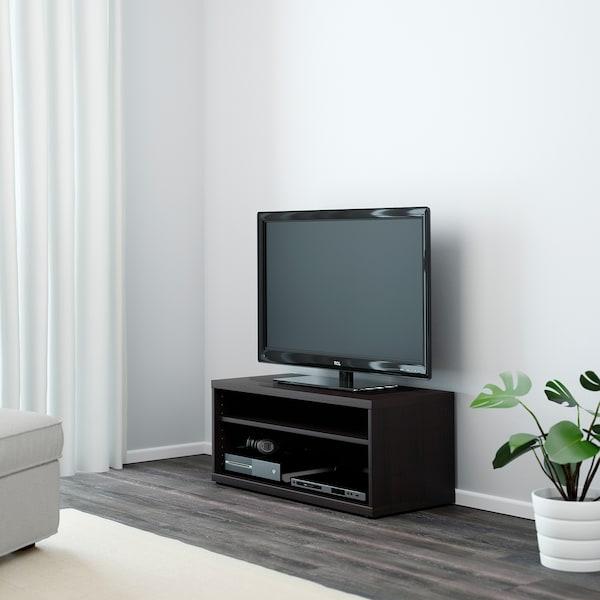 MOSJÖ TV bench, black-brown, 90x40x38 cm