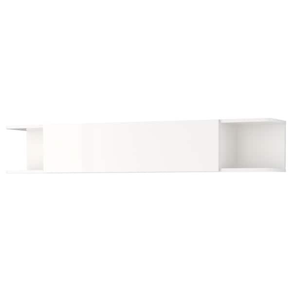 MOSTORP wall shelf high-gloss white 160 cm 27 cm 27 cm 35 kg