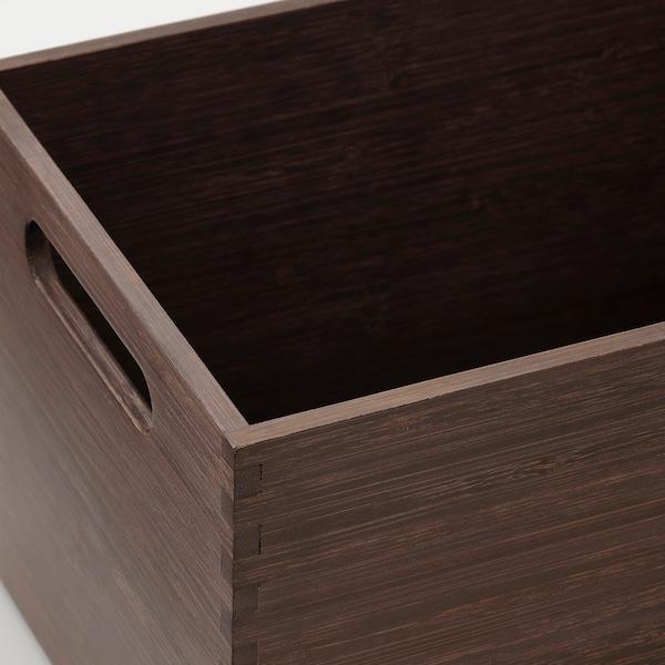 NÄBBIG Storage box, brown, 17x26x15 cm