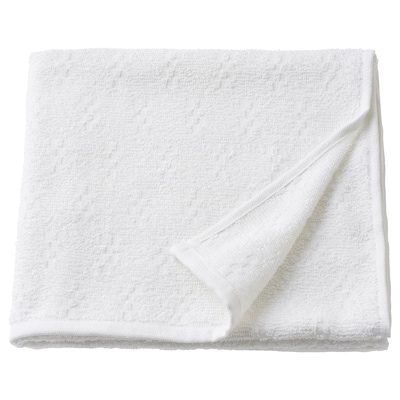 NÄRSEN Bath towel, white, 55x120 cm