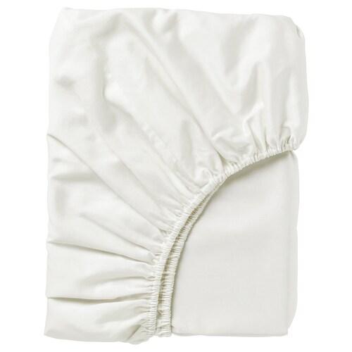 NATTJASMIN fitted sheet white 310 /inch² 200 cm 90 cm