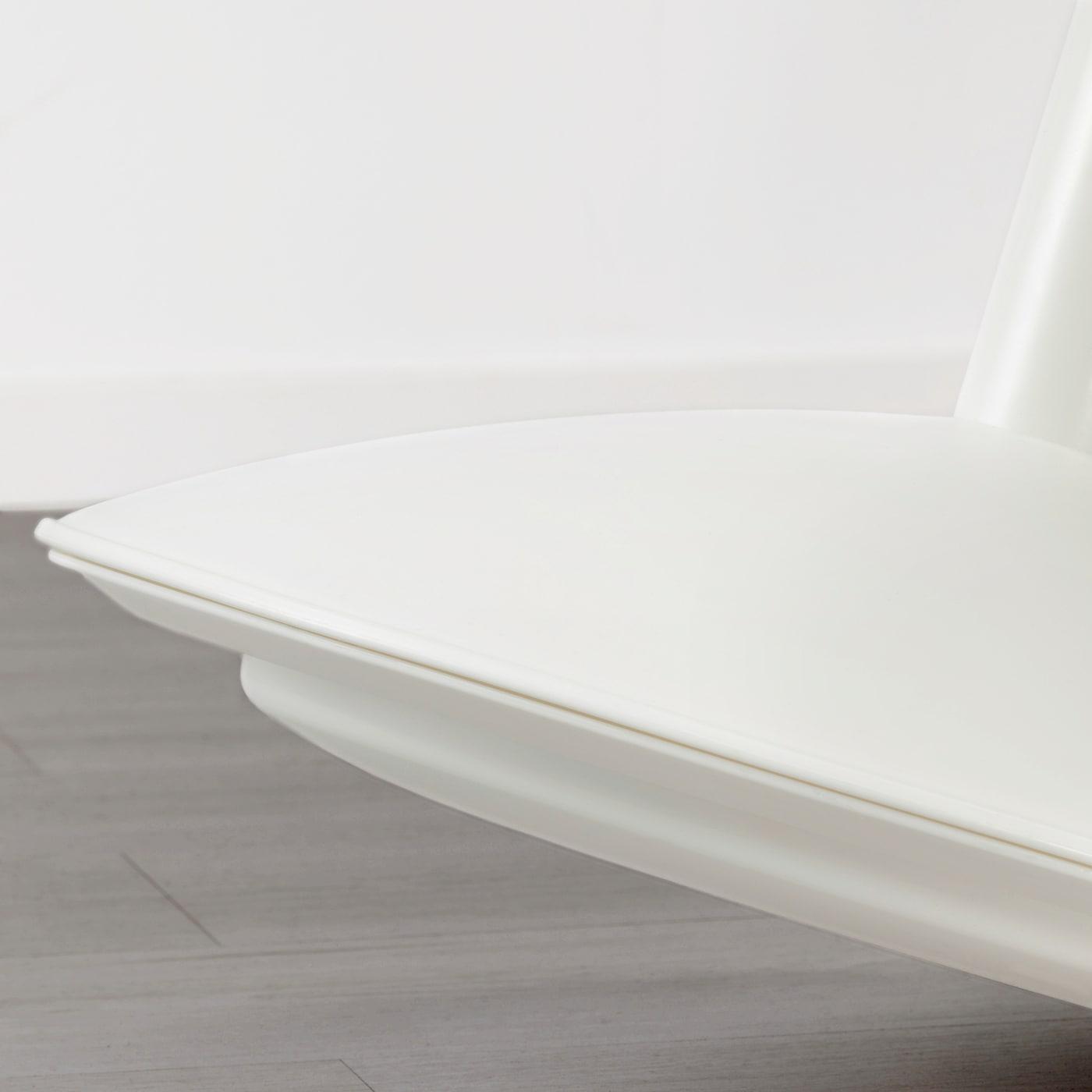 Ikea Nilserik Standing Support Sitting Stool Soft Seat Black White Vissle Grey