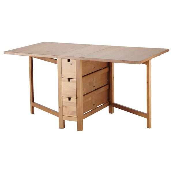 Norden Gateleg Table Antique Stain 26 87 148x80 Cm Ikea