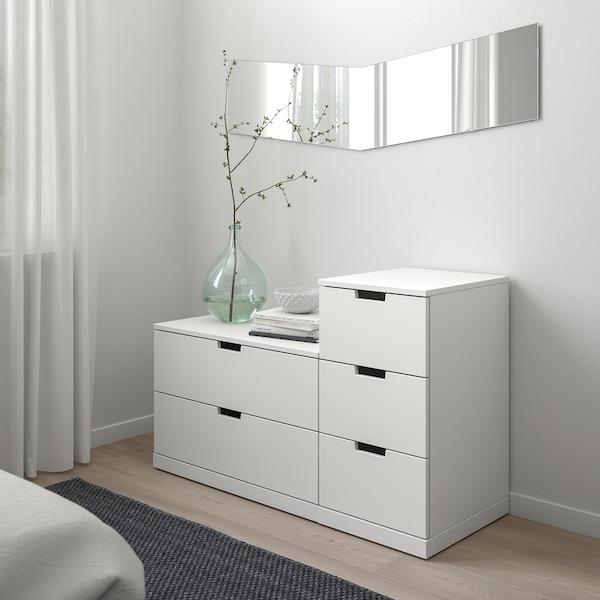 NORDLI Chest of 5 drawers, white, 120x76 cm