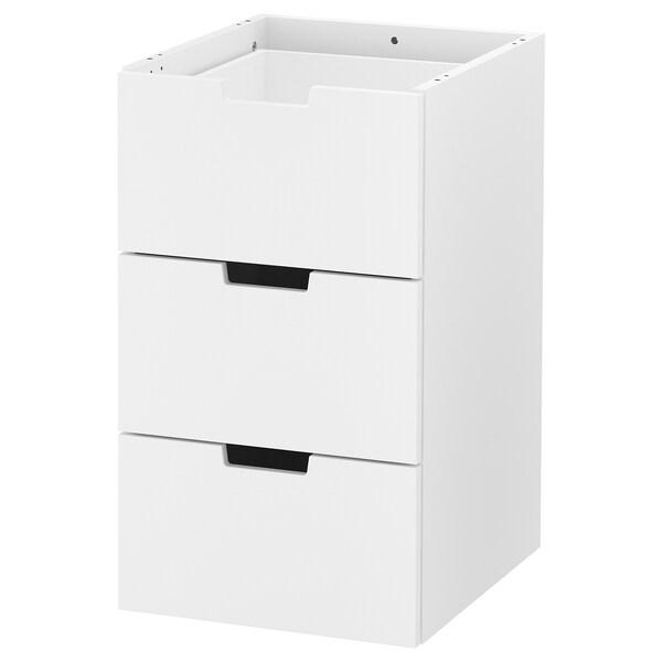 NORDLI Modular chest of 3 drawers, white, 40x68 cm