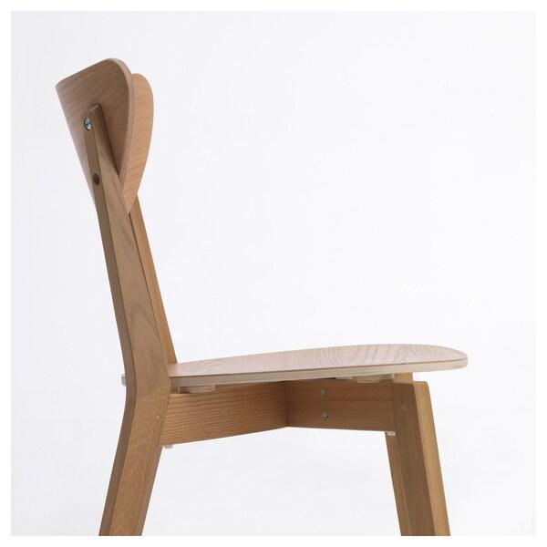 NORDMYRA Chair, oak/rubberwood