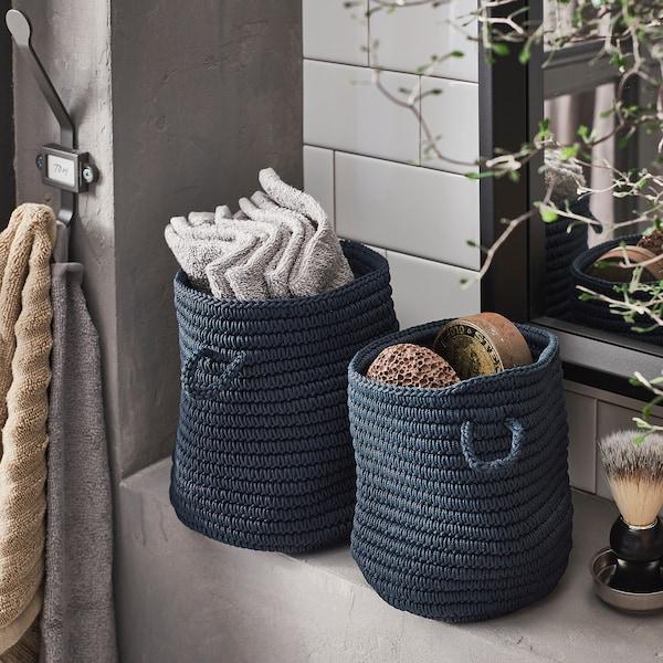 NORDRANA Basket, set of 2, blue