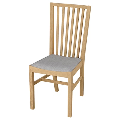NORRNÄS Chair, oak/Isunda grey